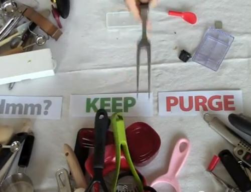 NEW VIDEO… Purge Them Drawers!