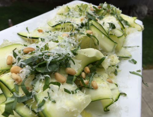 Don't Salt your Raw Shaved Zucchini Salad with Basil and Parmesan!