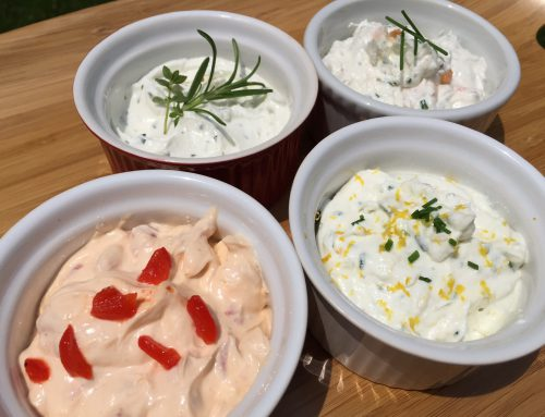 Four Easy Goat Cheese Spreads that you can use a million ways.